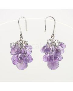 6.50 to 13 mm - Amethyst Drop Earrings - 60.61 carats (CSEarr1020)