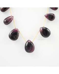 18 to 22 mm - Dark Purple-Red Tourmaline Drops - 155.00 carats (ToDr1069)
