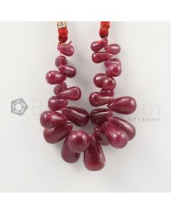 6 to 12.50 mm - Dark Red Ruby Drops - 58.00 carats (RDr1042)