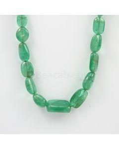 9 to 21 mm - 1 Line - Emerlad Tumbled Beads - 232.50 carats (EmTub1094)