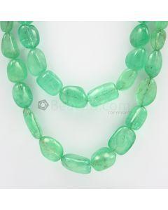 6.50 to 17 mm - 2 Lines - Emerlad Tumbled Beads - 868.50 carats (EmTub1091)
