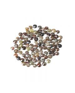100 Pieces - Fancy Color Diamond Rose Cut - 28.53 ct. - 3.80 to 4.20 mm (DRC1355)