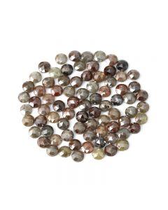 83 Pieces - Fancy Color Diamond Rose Cut - 30.70 ct. - 4.30 to 4.50 mm (DRC1357)
