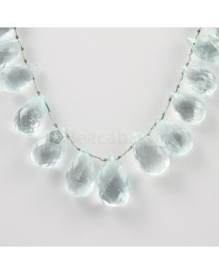 13 to 19 mm - Light Blue Aquamarine Drops - 178.00 carats (AqDr1028)