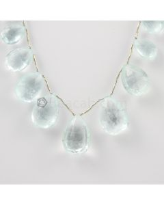 13 to 20 mm - Light Blue Aquamarine Drops - 124.00 carats (AqDr1033)