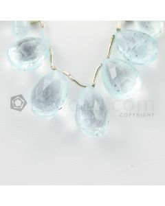 9 to 14 mm - Light Blue Aquamarine Drops - 33.00 carats (AqDr1034)