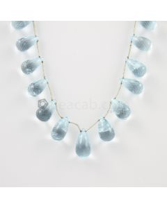 12 to 15 mm - Medium Blue Aquamarine Drops - 110.00 carats (AqDr1009)