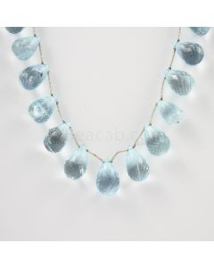 11 to 13.50 mm - Medium Blue Aquamarine Drops - 133.00 carats (AqDr1010)