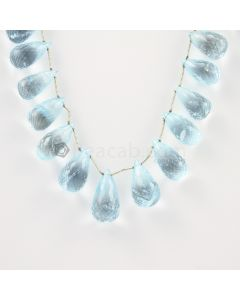 12 to 18 mm - Medium Blue Aquamarine Drops - 152.00 carats (AqDr1021)