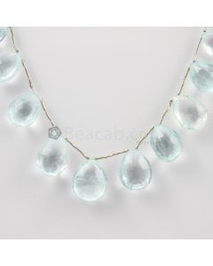 13 to 17 mm - Medium Blue Aquamarine Drops - 137.00 carats (AqDr1026)