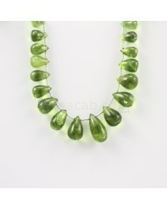 9 to 15.50 mm - Medium Green Peridot Drops - 72.00 carats (PDr1015)