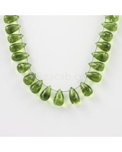11 to 12 mm - Medium Green Peridot Drops - 110.00 carats (PDr1016)