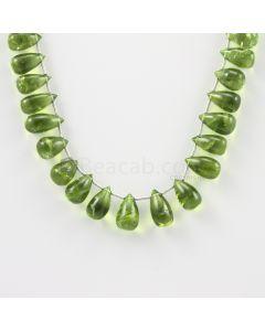 11 to 12 mm - Medium Green Peridot Drops - 110.00 carats (PDr1016)