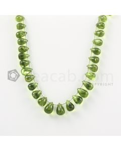9 to 11.50 mm - Medium Green Peridot Drops - 99.00 carats (PDr1017)