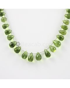 9 to 12.50 mm - Medium Green Peridot Drops - 88.00 carats (PDr1019)