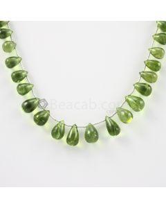 9 to 12.50 mm - Medium Green Peridot Drops - 88.00 carats (PDr1019)