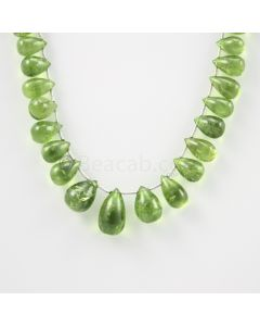 9 to 15.50 mm - Medium Green Peridot Drops - 116.00 carats (PDr1020)