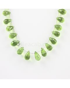 9.50 to 12 mm - Medium Green Peridot Faceted Drops - 71.50 carats (PDr1002)
