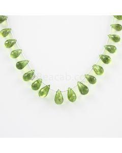 9 to 12 mm - Medium Green Peridot Faceted Drops - 72.00 carats (PDr1003)