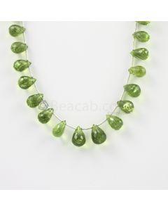 8.50 to 11 mm - Medium Green Peridot Faceted Drops - 70.00 carats (PDr1006)