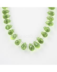11 to 13 mm - Medium Green Peridot Faceted Drops - 104.50 carats (PDr1009)