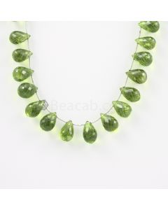 10.50 to 11.50 mm - Medium Green Peridot Faceted Drops - 102.00 carats (PDr1010)