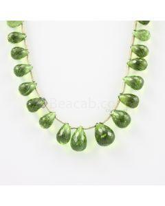 9 to 13 mm - Medium Green Peridot Faceted Drops - 92.50 carats (PDr1012)