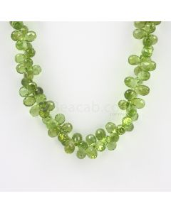 8 to 9 mm - Medium Green Peridot Faceted Drops - 260.00 carats (PDr1022)