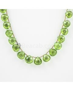 8 to 10 mm - Medium Green Peridot Faceted Drops - 95.00 carats (PDr1025)