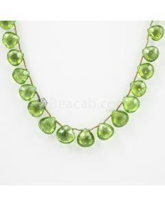 8 to 10 mm - Medium Green Peridot Faceted Drops - 95.00 carats (PDr1025)
