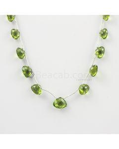 5 to 8 mm - Medium Green Peridot Faceted Drops - 24.00 carats (PDr1027)