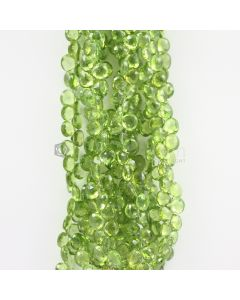 8 to 9 mm - Medium Green Peridot Faceted Drops - 804.00 carats (PDr1029)