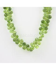 8 to 9 mm - Medium Green Peridot Faceted Drops - 160.00 carats (PDr1031)