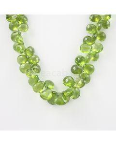 8 to 13 mm - Medium Green Peridot Faceted Drops - 152.00 carats (PDr1034)