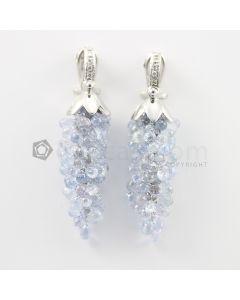 3 to 4 mm - Multi-Sapphire Drop Earrings - 89.00 carats (CSEarr1033)