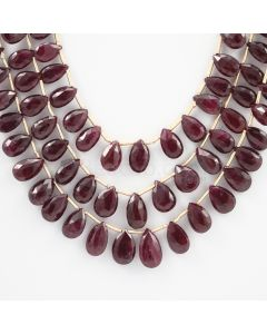 7 to 12 mm - 3 Lines - Ruby Drops - 216.00 carats (RDr1002)