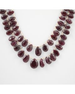 7 to 13 mm - 2 Lines - Ruby Drops - 132.27 carats (RDr1004)