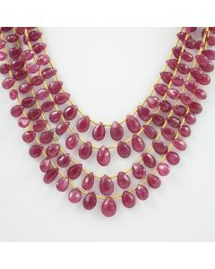 5.50 to 9 mm - 4 Lines - Ruby Drops - 158.50 carats (RDr1017)