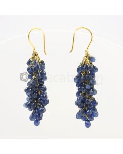 3 to 4 mm - Sapphire Drop Earrings - 51.00 carats (CSEarr1014)