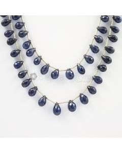 6.50 to 8.50 mm - 2 Lines - Sapphire Drops - 143.50 carats (SDr1007)