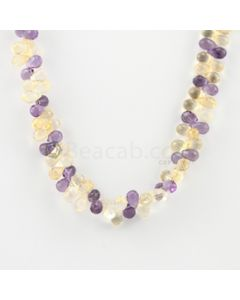 6.30 to 7.20 mm - 1 Line - Citine and Amethyst Drops Necklace  - 174.50 carats (CSNKL1129)