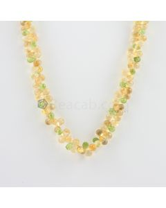 6.30 to 8 mm - 1 Line - Citrine and Peridot Drops Necklace  - 181.50 carats (CSNKL1126)