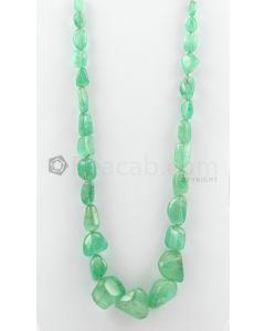 12.00 to 25.00 mm - 1 Line - Emerald Tumbled Beads - 654.70 carats (EmTuB1025)
