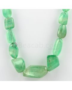 12.00 to 35.00 mm - 1 Line - Emerald Tumbled Beads - 464.56 carats (EmTuB1026)
