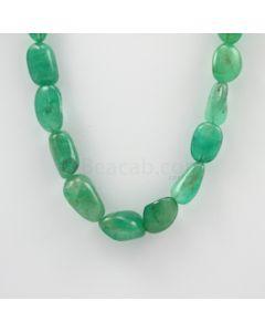 14.00 to 22.00 mm - 1 Line - Emerald Tumbled Beads - 370.50 carats (EmTuB1030)