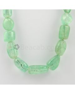11.00 to 25.00 mm - 1 Line - Emerald Tumbled Beads - 426.90 carats (EmTuB1031)