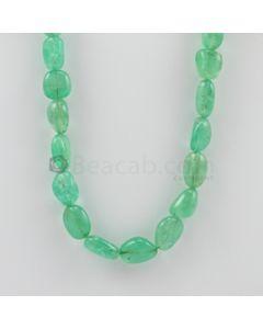 8.00 to 16.00 mm - 1 Line - Emerald Tumbled Beads - 319.00 carats (EmTuB1033)