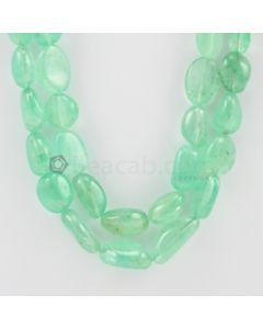 10.00 to 22.00 mm - 2 Lines - Emerald Tumbled Beads - 641.00 carats (EmTuB1035)