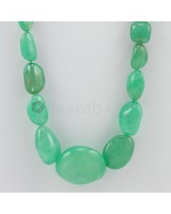 13.00 to 32.00 mm - 1 Line - Emerald Tumbled Beads - 631.00 carats (EmTuB1042)