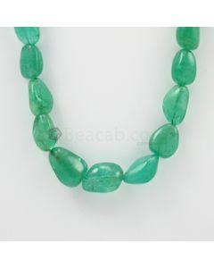 12.50 to 22 mm - 1 Line - Emerald Tumbled Beads - 537.00 carats (EmTub1062)